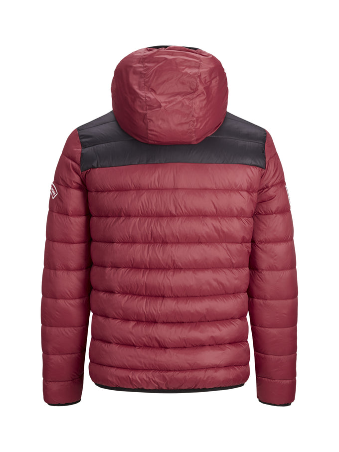 PUFFER JACKET WITH TEDDY LINING Brick Red