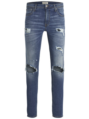 SLIM FIT GLENN 848 JEANS WITH RIPPED KNEES