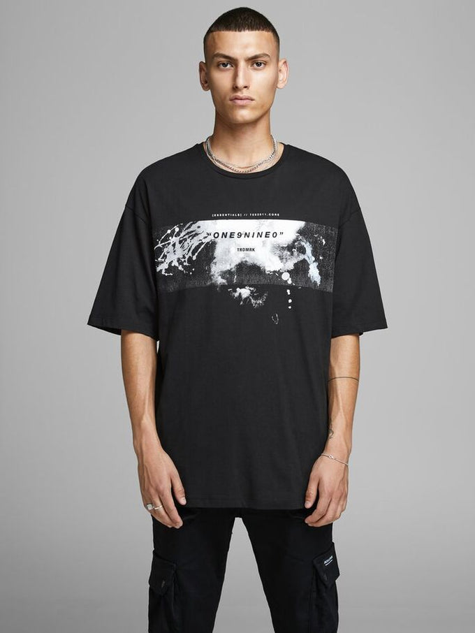 ROLL OVERSIZE T-SHIRT Black