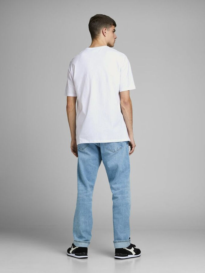 ROLL OVERSIZE T-SHIRT White