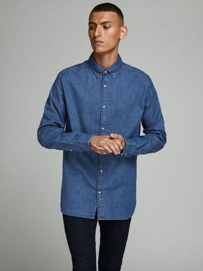 LONG-SLEEVED LEON DENIM SHIRT