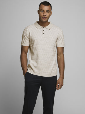 FENCE KNIT POLO