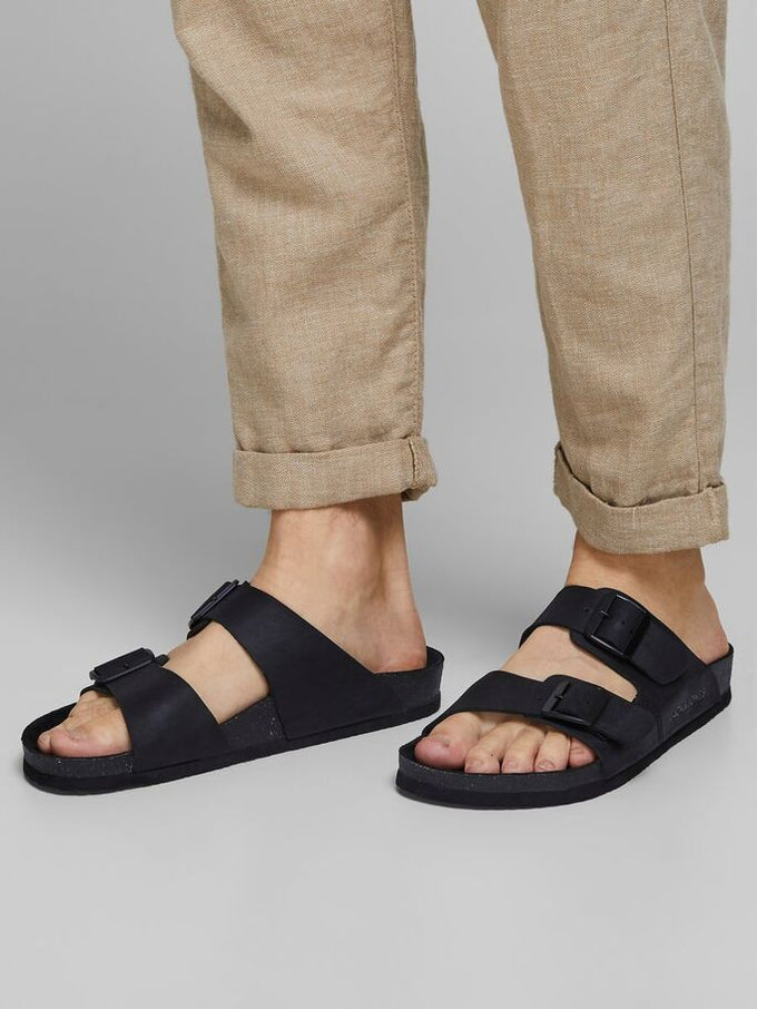 CROXTON LEATHER SANDALS Anthracite