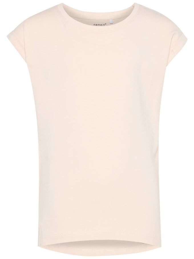 HIGH-LOW SOLID T-SHIRT Peachy Keen