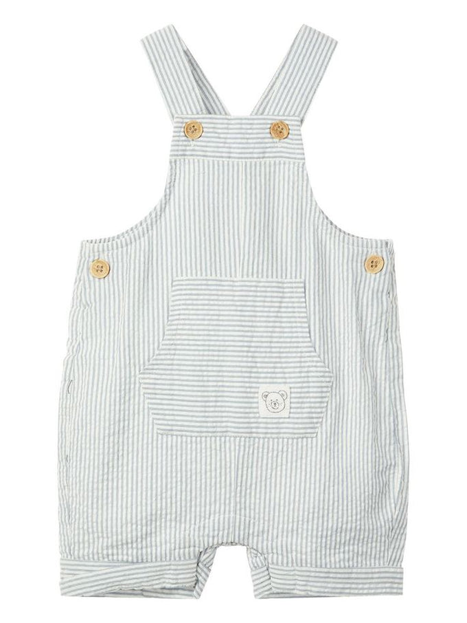 STRIPED BABY OVERALL Ashley Blue