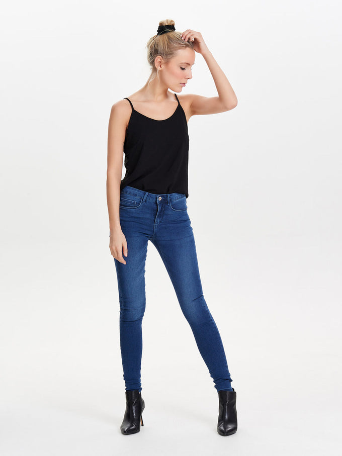 ONLROYAL  BLUE SKINNY FIT JEANS Medium Blue Denim