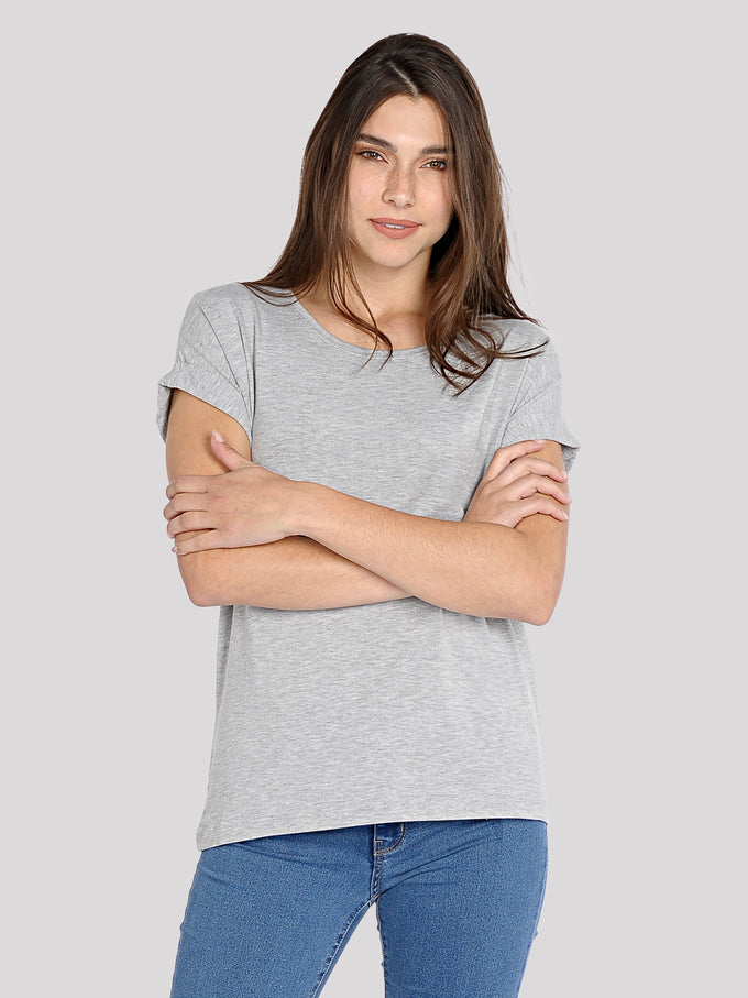 ESSENTIAL DOLMAN SLEEVE T-SHIRT Light Grey Melange