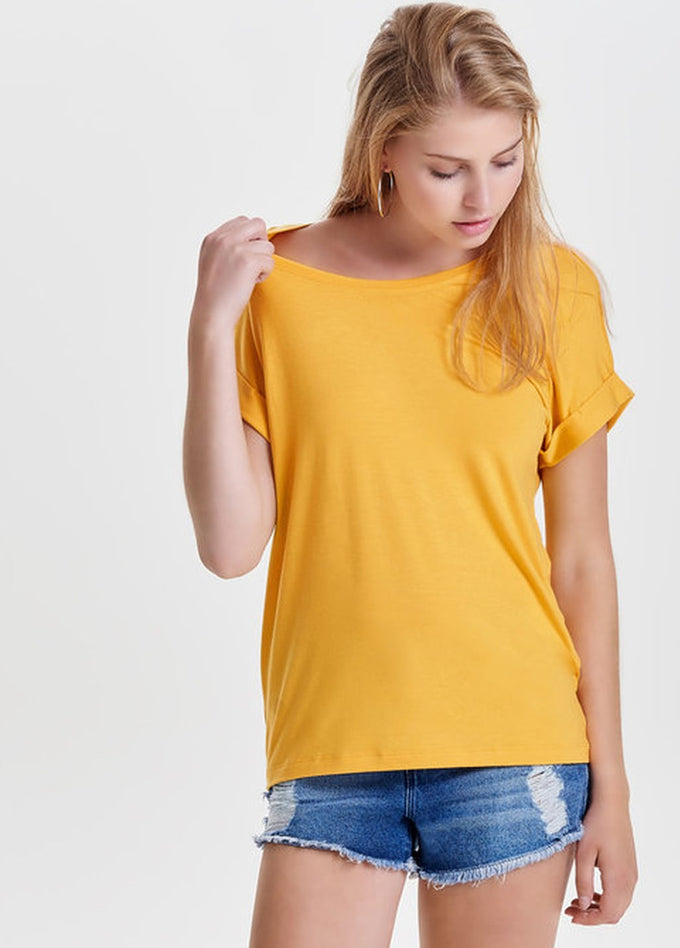 ESSENTIAL DOLMAN SLEEVE T-SHIRT Yolk Yellow