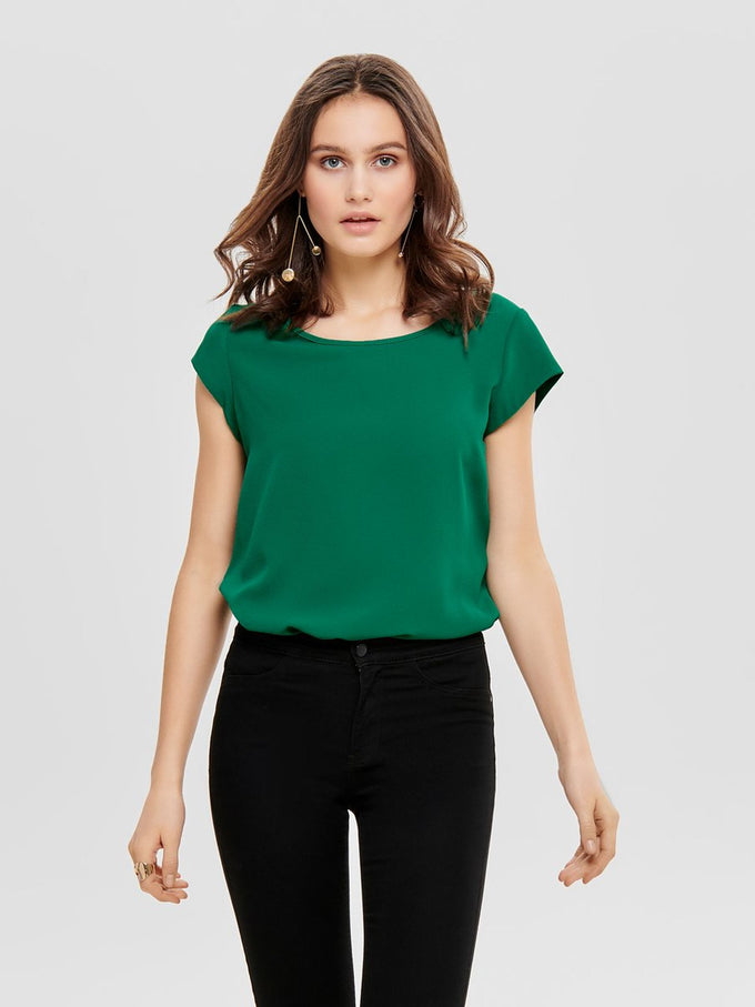 COLOURFUL CREPE BLOUSE Cadmium Green