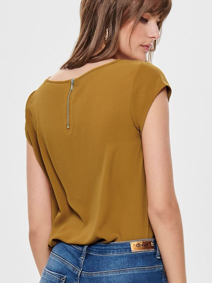 COLOURFUL CREPE BLOUSE Cathay Spice
