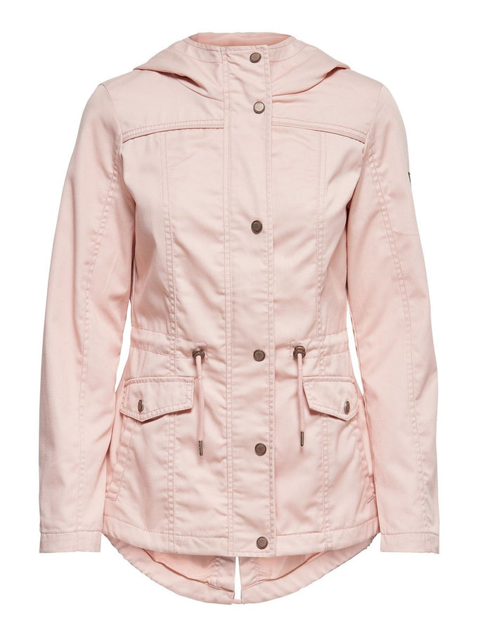 CANVAS COLOURFUL PARKA Cameo Rose