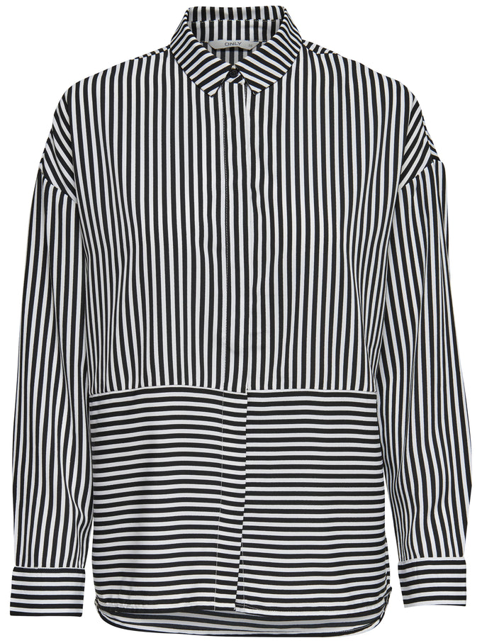 STRIPED SHIRT Black