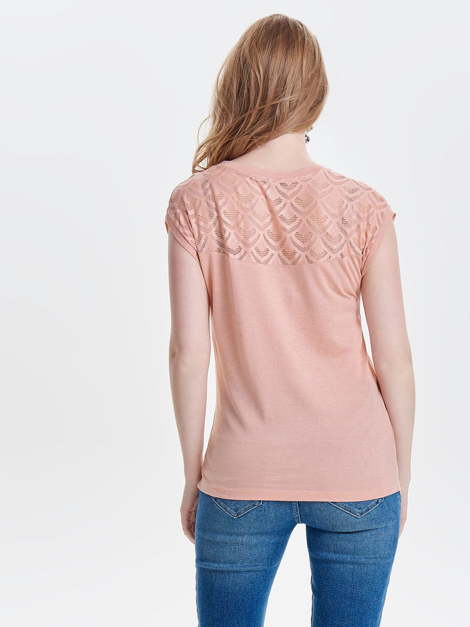 SOLID FEMININE BLOUSE Misty Rose