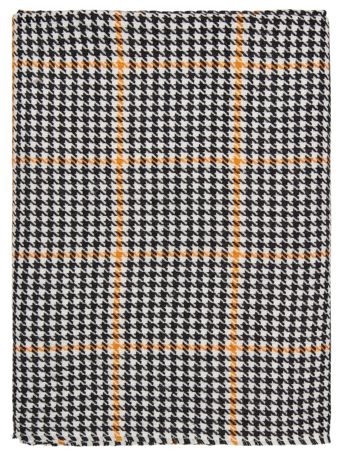 COLOURFUL HOUNDSTOOTH SCARF Black