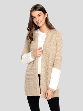 CARDIGAN WITH TEXTURED DETAILS