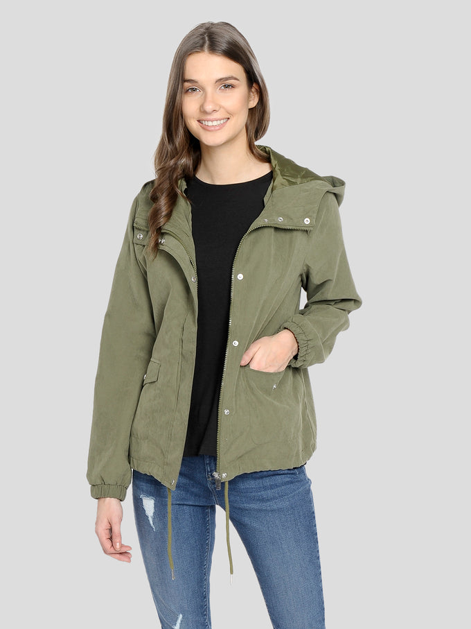 LIGHT CANVAS PARKA Winter Moss