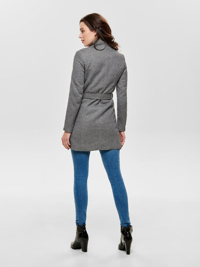 HIGH-COLLAR CITY JACKET Light Grey Melange
