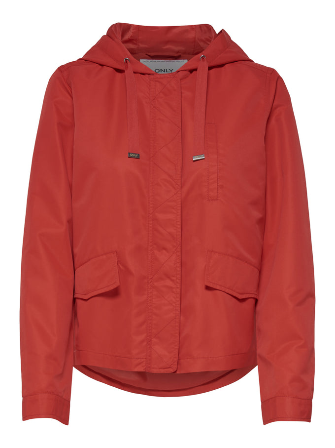 LIGHT COLOURFUL PARKA High Risk Red