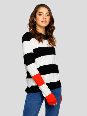 LIGHT STRIPED SWEATER