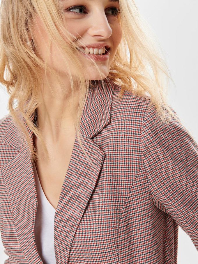 HOUNDSTOOTH JACKET Pumice Stone