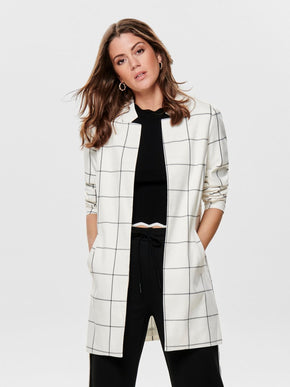 LONG CHECKERED BLAZER