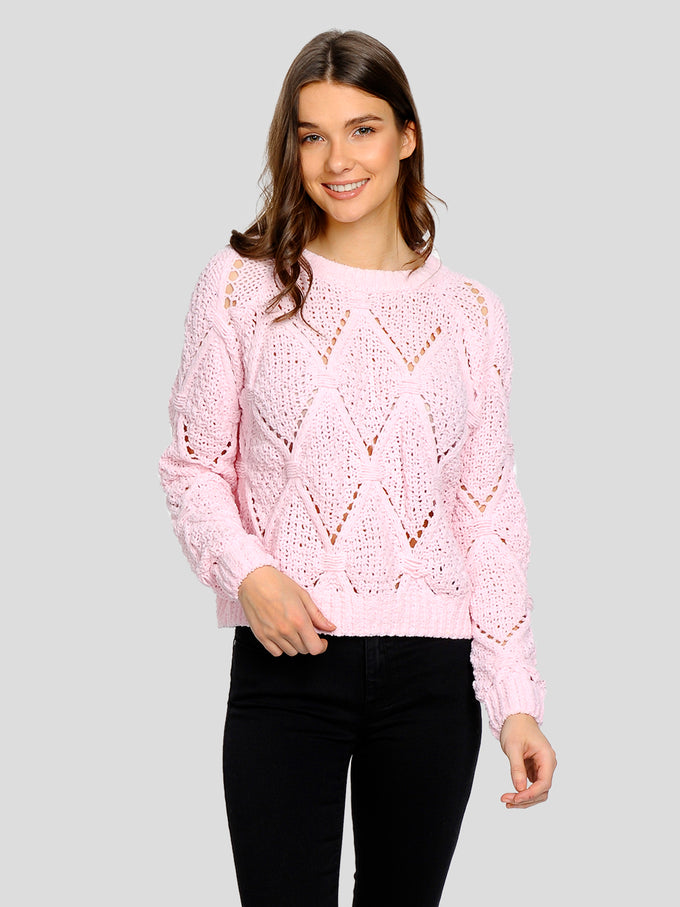 COLOURFUL CHENILLE SWEATER Blushing Bride