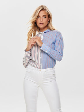 SHIRT WITH MIXED STRIPES