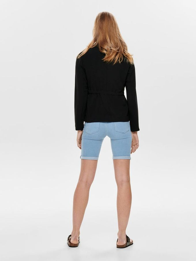 SHORT CREPE BLAZER Black