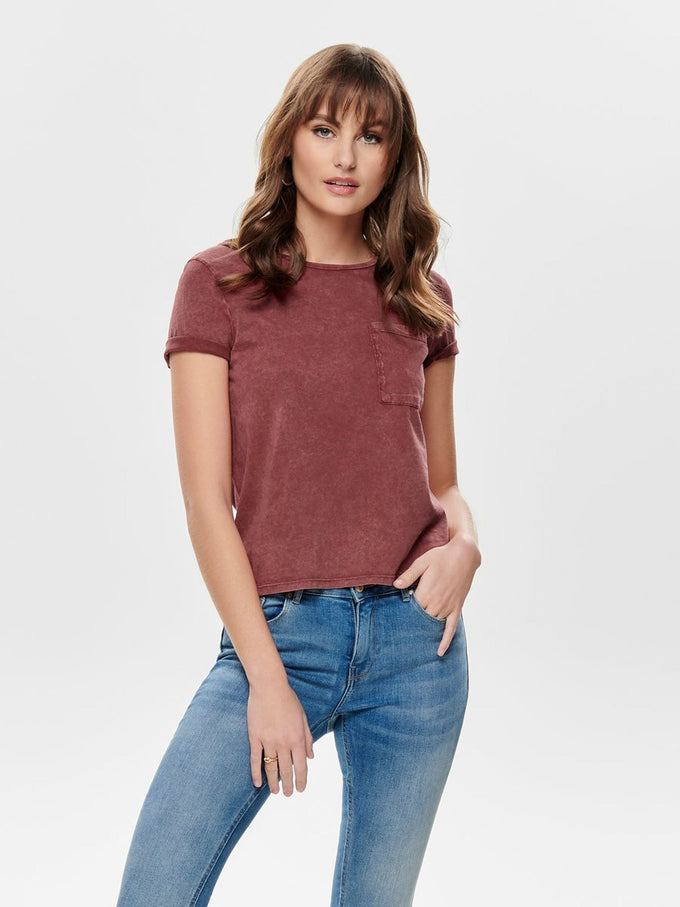 ACID-WASH T-SHIRT Canyon Rose