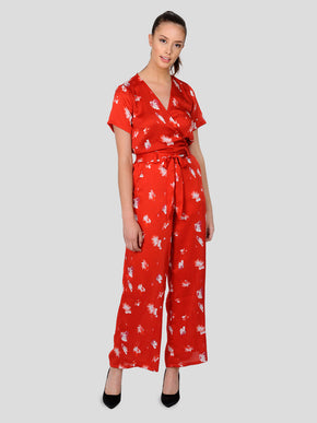 FINAL SALE – SILKY FLORAL JUMPSUIT