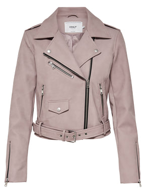 SOFT BLUSH MOTO JACKET