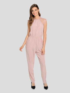 FINAL SALE – JUMPSUIT WITH LACE DETAIL