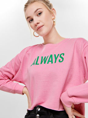 CROPPED SOFT SWEATSHIRT
