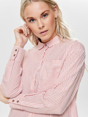 100% ORGANIC-COTTON STRIPED SHIRT
