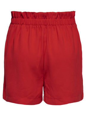JERSEY SHORTS WITH PAPER-BAG WAIST