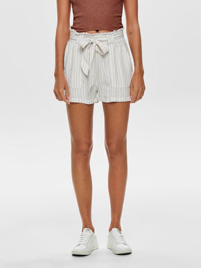 LYOCELL STRIPED SHORTS