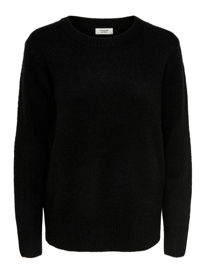 CUTE SOLID SWEATER Black