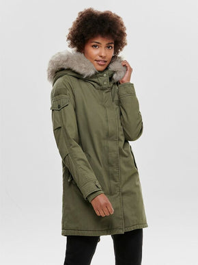 MAY FUR CANVAS PARKA