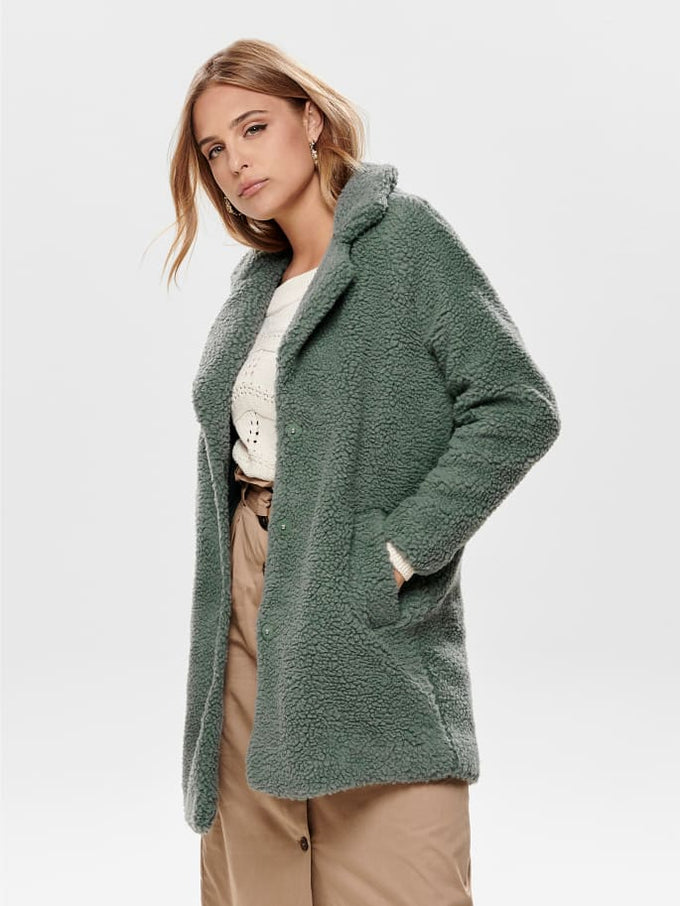 LOOSE SHERPA JACKET Balsam Green