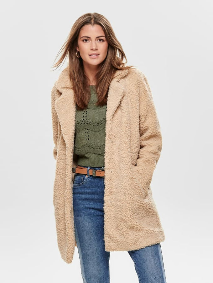 LOOSE SHERPA JACKET Cuban Sand