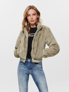 SHORT FAUX-FUR JACKET