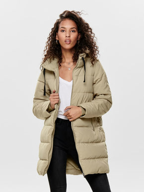 SOLID QUILTED PARKA
