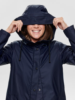 RAIN COAT WITH SHERPA LINING