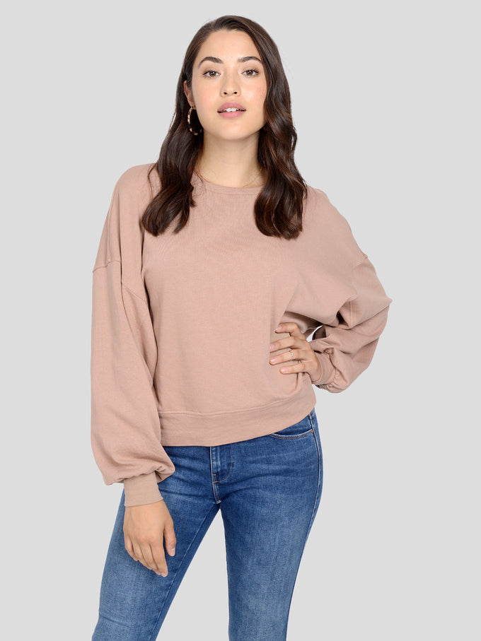 ORGANIC-COTTON OVERSIZED SWEATSHIRT Almondine
