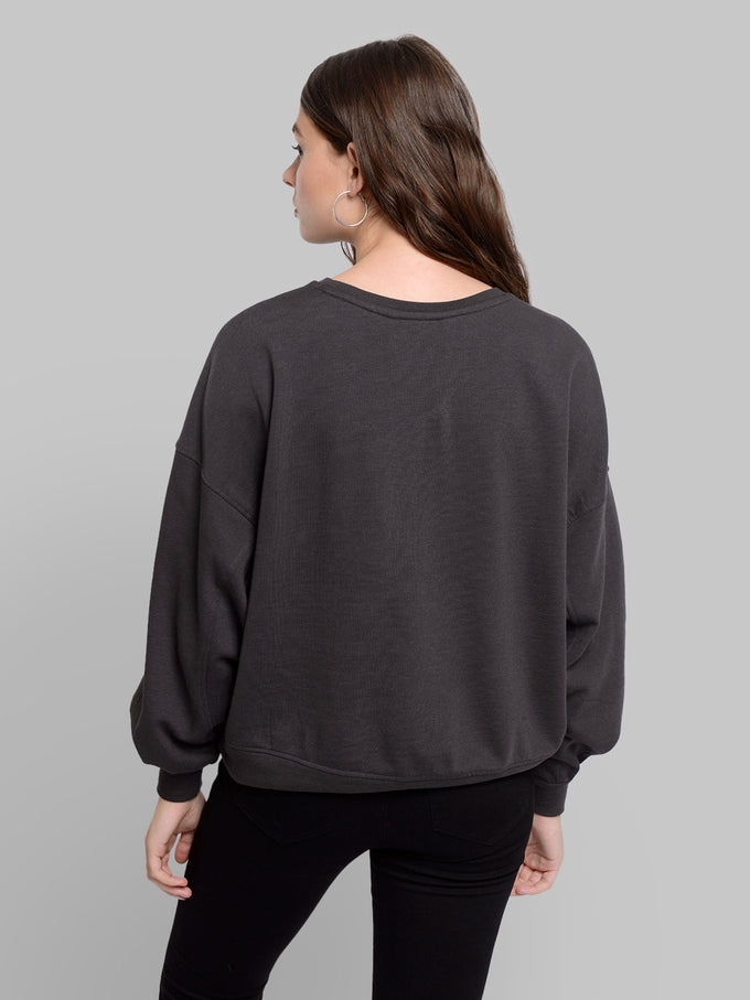 ORGANIC-COTTON OVERSIZED SWEATSHIRT Phantom