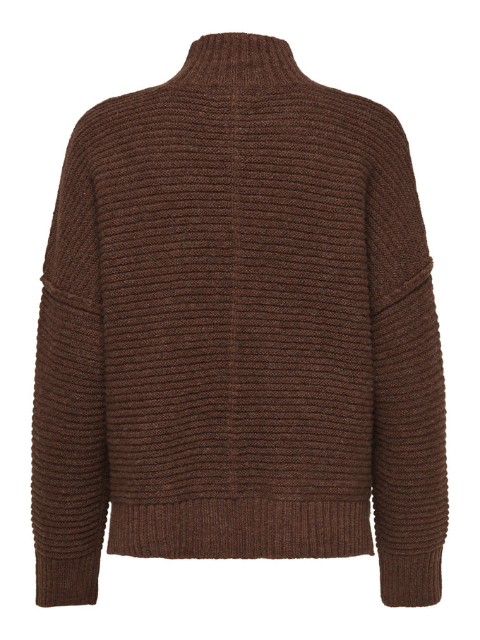 ELAINA TEXTURED KNIT SWEATER Ginger Bread