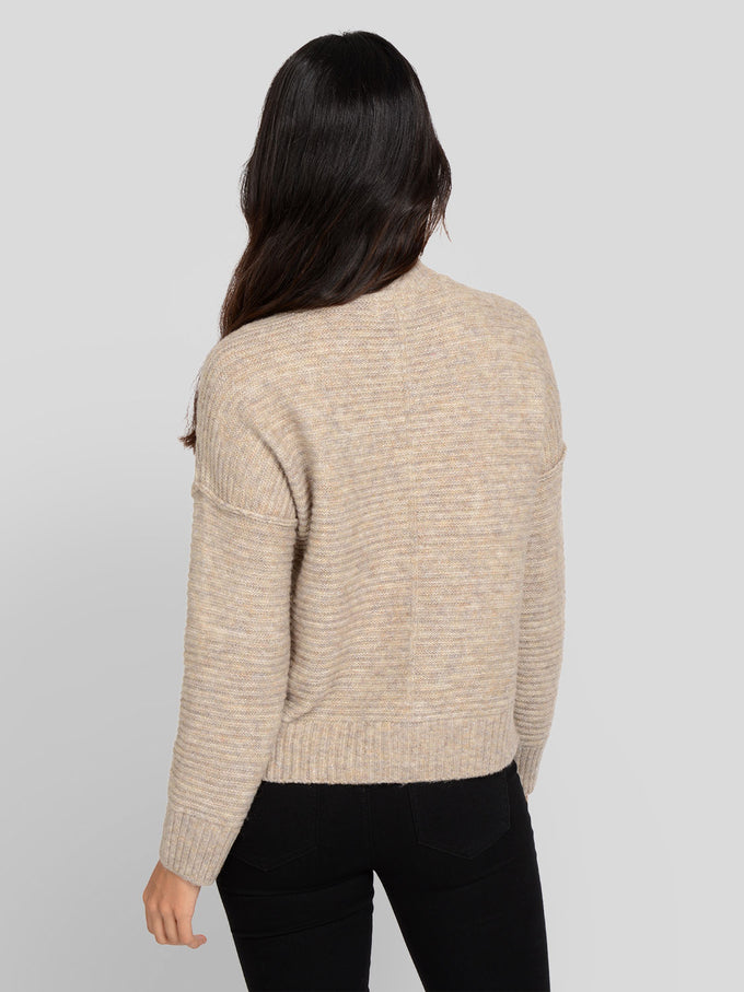 ELAINA TEXTURED KNIT SWEATER Simply Taupe
