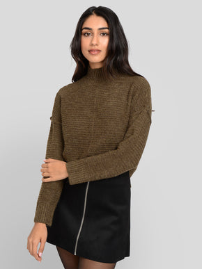 ELAINA TEXTURED KNIT SWEATER