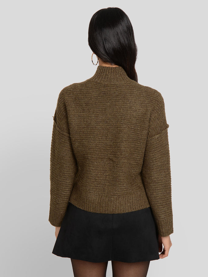 ELAINA TEXTURED KNIT SWEATER Beech