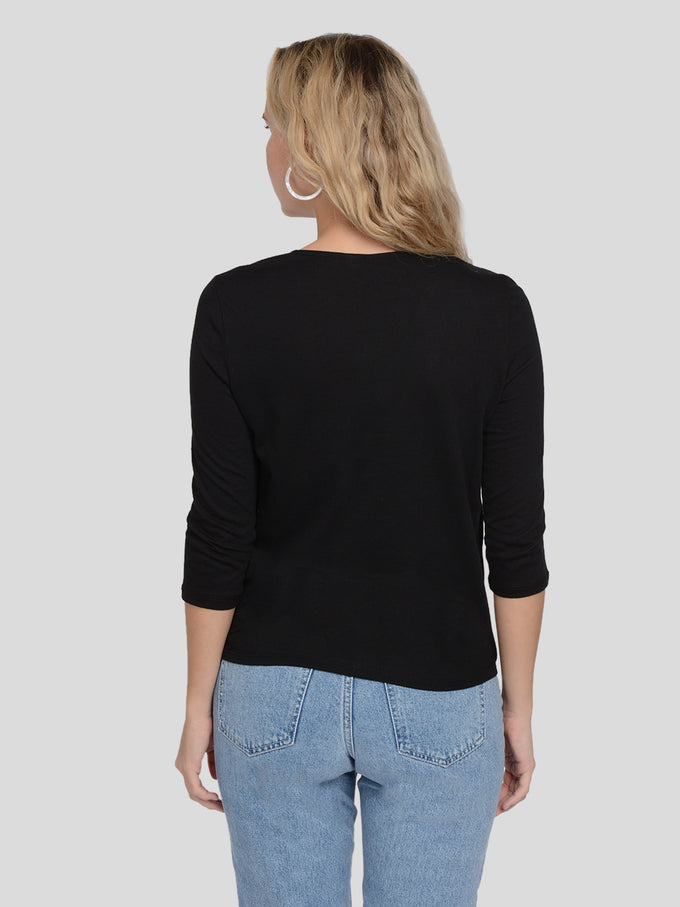 LAVA 3/4 WRAP TOP Black